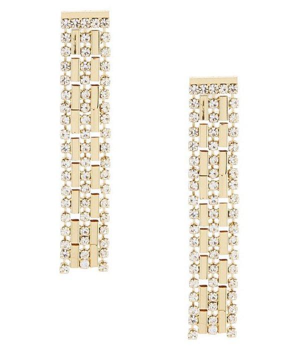 アンクライン レディース ピアス・イヤリング アクセサリー Gold Crystal Waterfall Chain Drop Earrings Crystal/White