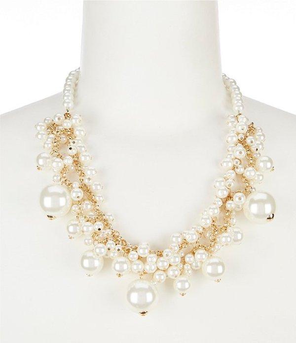 ディラーズ レディース ネックレス・チョーカー アクセサリー Cluster Pearl Frontal Necklace Gold/Pearl