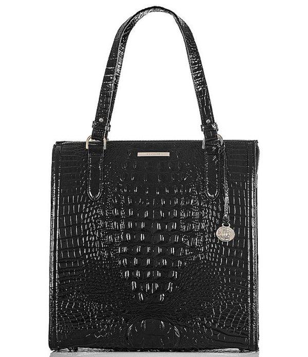 ブランミン レディース ハンドバッグ バッグ Brahmin Melbourne Collection Large Caroline Satchel Bag Black