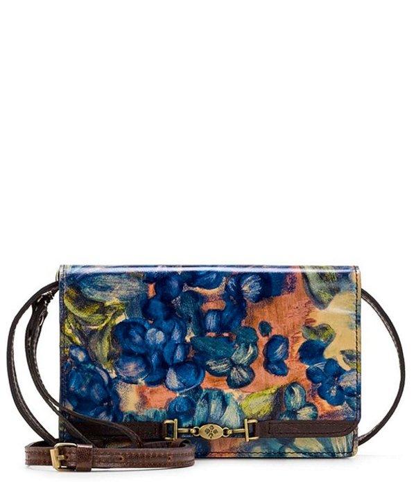 パトリシアナシュ レディース ショルダーバッグ バッグ Blue Clay Collection Apricale Floral Print Leather Crossbody Bag Blu Clay