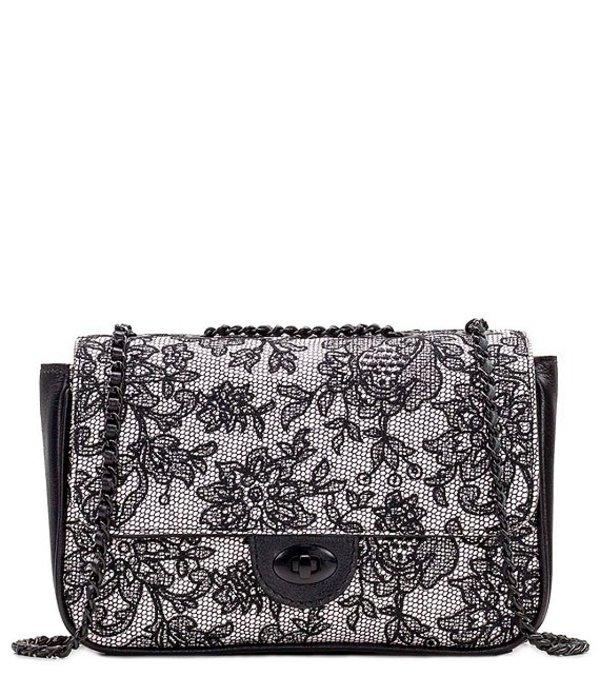 パトリシアナシュ レディース ショルダーバッグ バッグ Chantilly Lace Collection Lorenza Chain Shoulder Bag White