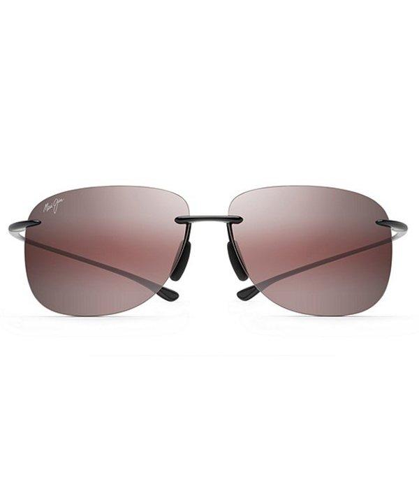 マウイジム メンズ サングラス・アイウェア アクセサリー Hikina Polarized Rimless Sunglasses Black Gloss