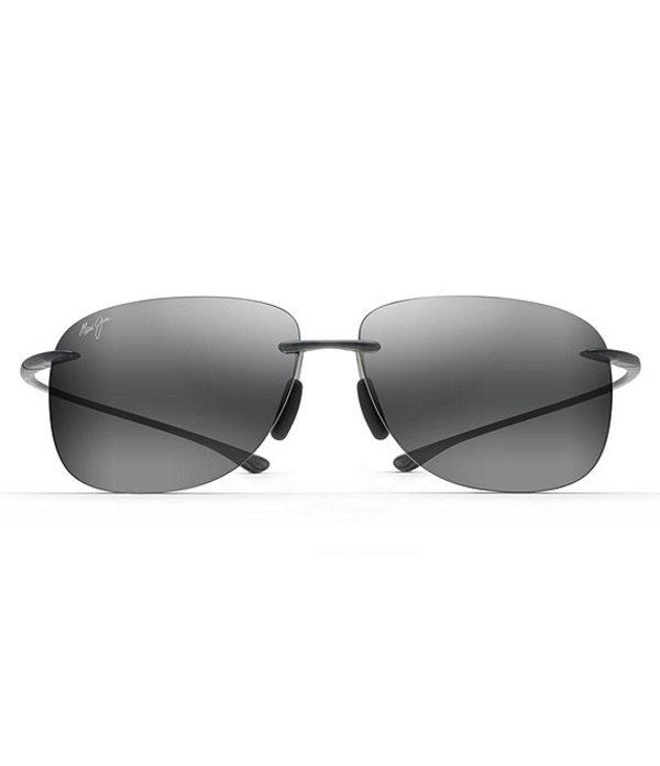 マウイジム メンズ サングラス・アイウェア アクセサリー Hikina Polarized Rimless Sunglasses Matte Grey