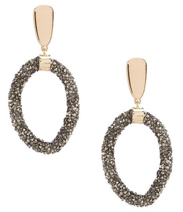 アンナ&アヴァ レディース ピアス・イヤリング アクセサリー Hematite Hoop Statement Earrings Multicolor