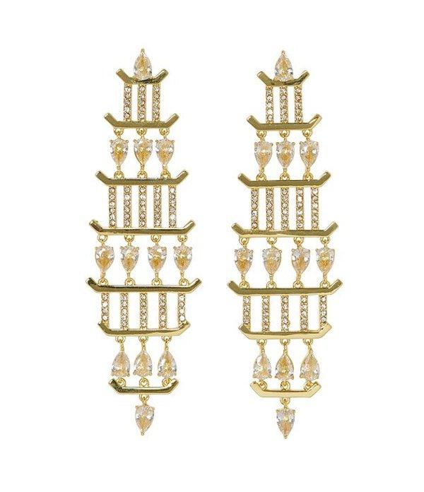 ヴィンスカムート レディース ピアス・イヤリング アクセサリー Gold Chandelier Earrings Gold