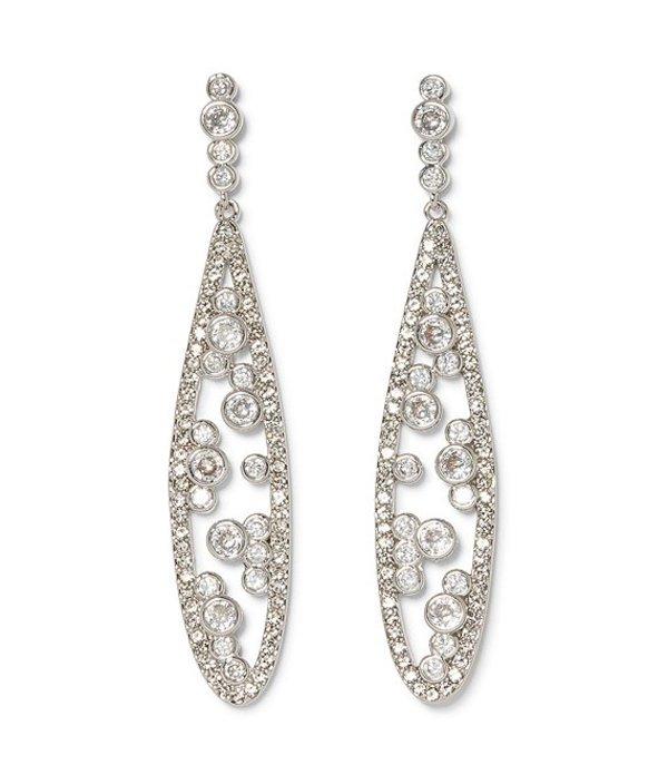ヴィンスカムート レディース ピアス・イヤリング アクセサリー Crystal Tear Drop Earrings Silver