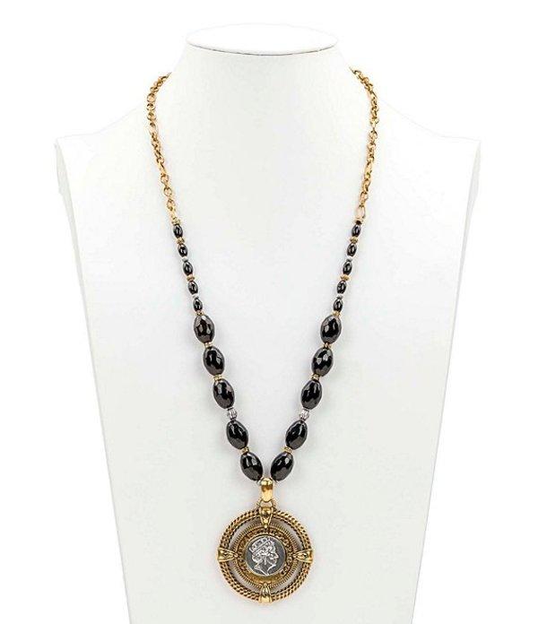 パトリシアナシュ レディース ネックレス・チョーカー アクセサリー Coin Medallion Necklace Two Tone