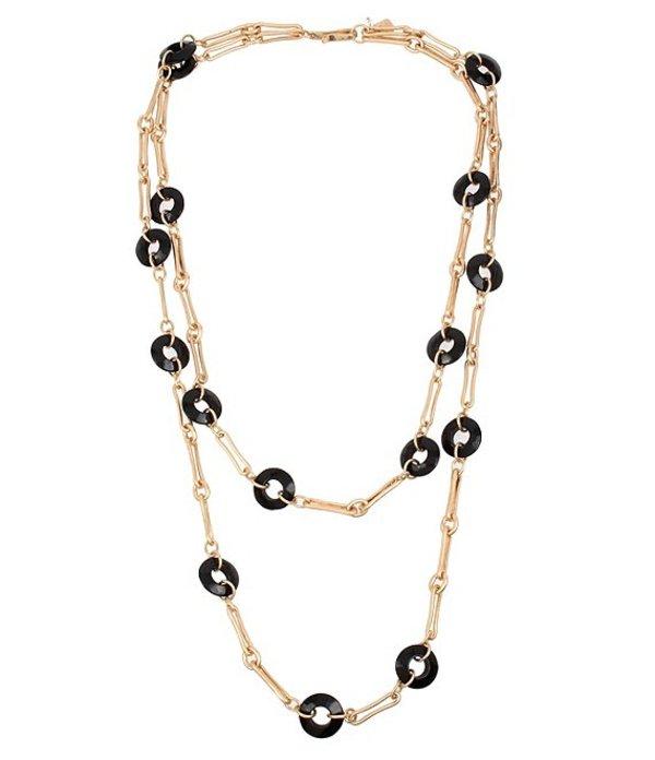 ロバート リー モーリス レディース ネックレス・チョーカー アクセサリー Beaded Two Row Necklace Black