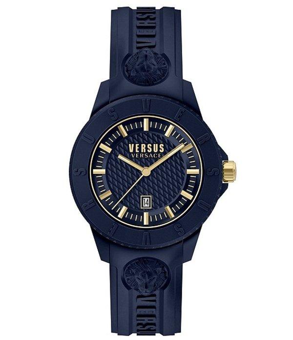 ヴェルサーチ メンズ 腕時計 アクセサリー Versus By Versace Tokyo R Blue Silicone Watch Navy