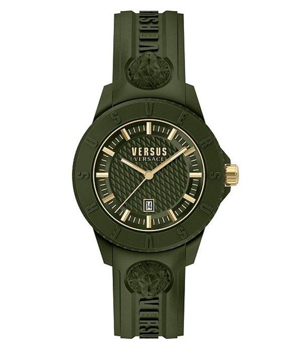 ヴェルサーチ メンズ 腕時計 アクセサリー Versus By Versace Tokyo R Green Silicone Watch Green