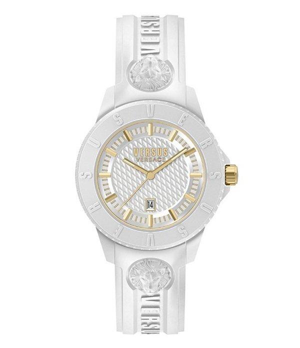 ヴェルサーチ メンズ 腕時計 アクセサリー Versus By Versace Tokyo R White Silicone Watch White