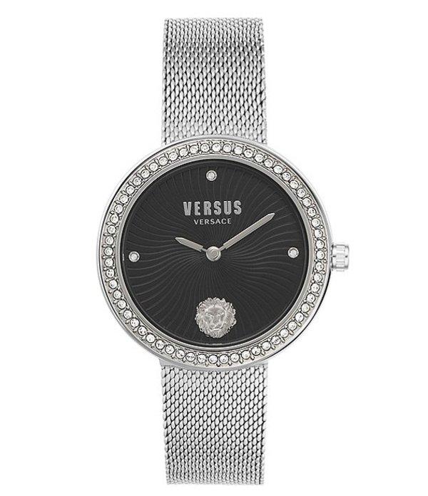 ヴェルサーチ レディース 腕時計 アクセサリー Versus By Versace Lea Silver Mesh Bracelet Watch Silver