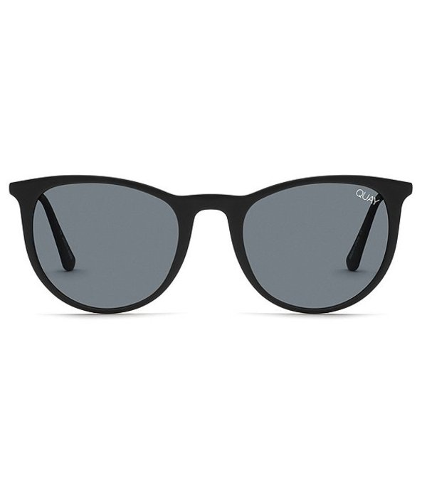 クアイオーストラリア レディース サングラス・アイウェア アクセサリー Great Escape Round Sunglasses Matte Black Smoke