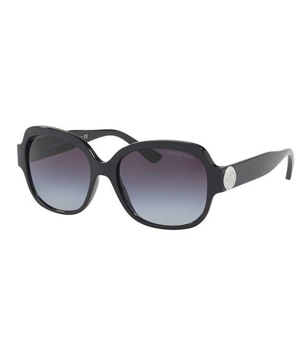 マイケルコース レディース サングラス・アイウェア アクセサリー Suz Gradient Oversized Square Sunglasses Black