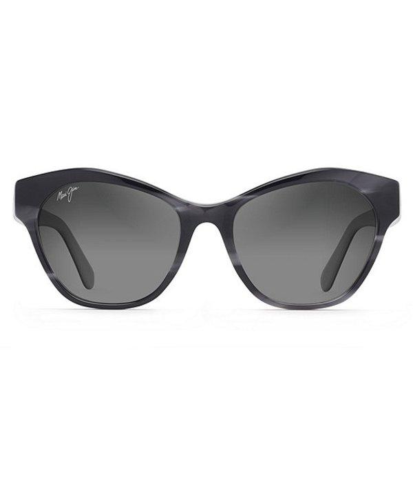 マウイジム レディース サングラス・アイウェア アクセサリー Kila Polarized Cat Eye Sunglasses Black