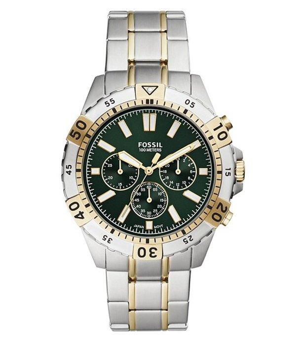 フォッシル メンズ 腕時計 アクセサリー Garrett Chronograph Two-Tone Stainless Steel Watch Two Tone