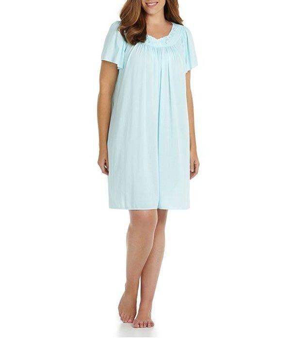 ミス エレーン レディース ナイトウェア アンダーウェア Plus Tricot Short Gown Seafoam