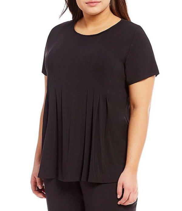 ダナキャラン レディース ナイトウェア アンダーウェア Plus Jersey Knit Sleep Top Black