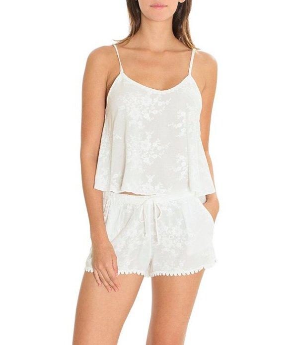 インブルーム レディース ナイトウェア アンダーウェア Bird Song Embroidered Pajama Set Ivory