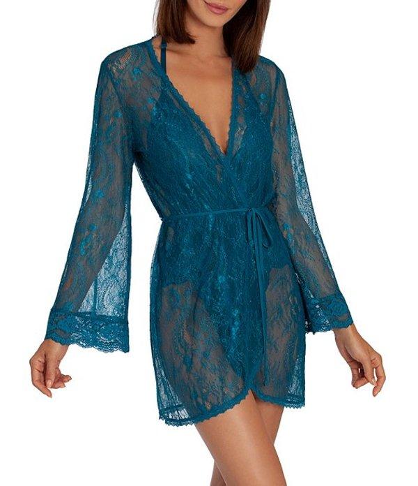 インブルーム レディース ナイトウェア アンダーウェア Allover Lace Short Wrap Robe New Teal