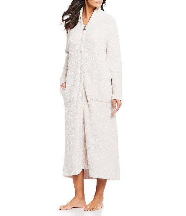 ベアフットドリームス レディース ナイトウェア アンダーウェア Cozy Chic Full Zip-Front Robe Almond