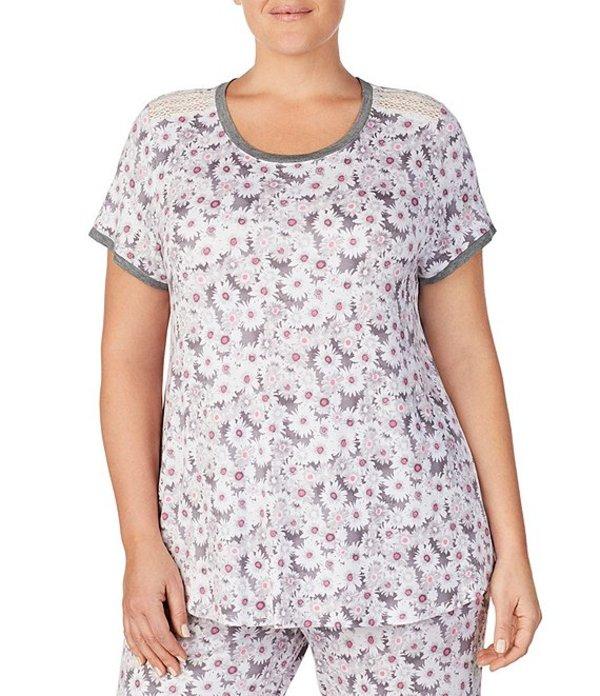 ケンジー レディース ナイトウェア アンダーウェア Plus Floral Print Stretch Knit Sleep Tee Multi