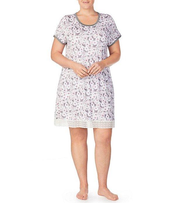 ケンジー レディース ナイトウェア アンダーウェア Plus Floral Print Stretch Knit Sleepshirt Multi
