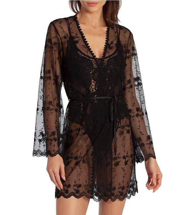 インブルーム レディース ナイトウェア アンダーウェア Beautiful Creatures Appliqued Net Short Wrap Robe Black