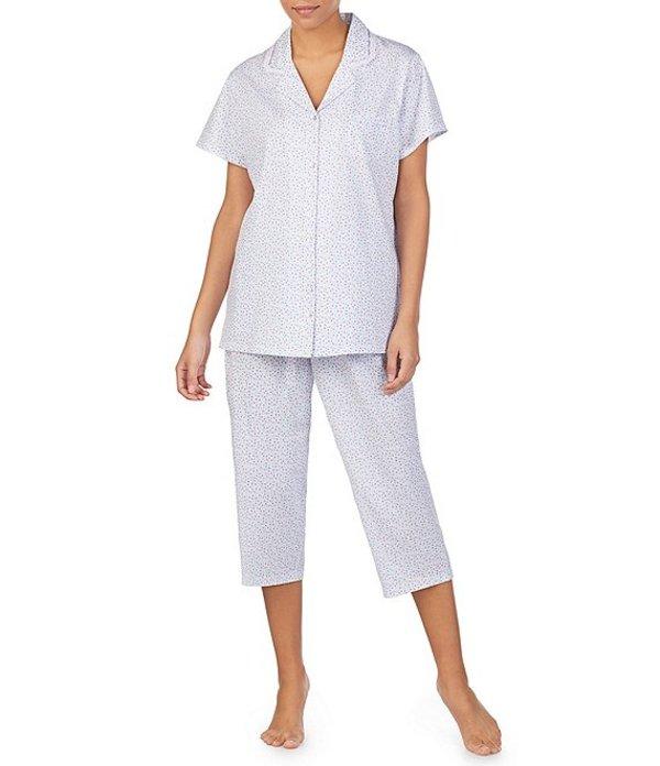 エイレーンウェスト レディース ナイトウェア アンダーウェア Ditsy Floral Print Jersey Knit Pajama Set White/Multi