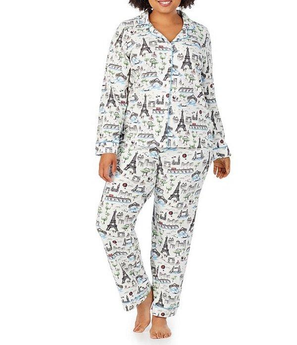 ベッドヘッド レディース ナイトウェア アンダーウェア Pajamas BedHead Plus Sightseeing Paris Print Classic Knit Pajama Set Multi