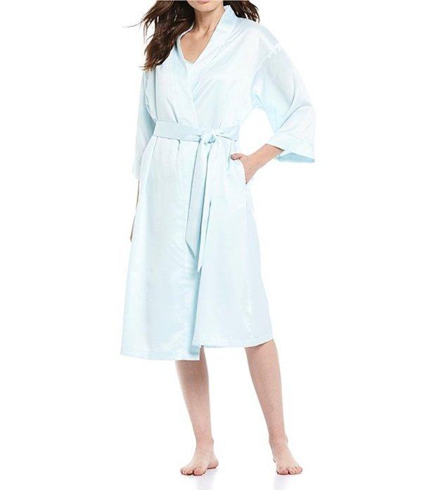 カベルネ レディース ナイトウェア アンダーウェア Satin Short Wrap Robe Wan Blue