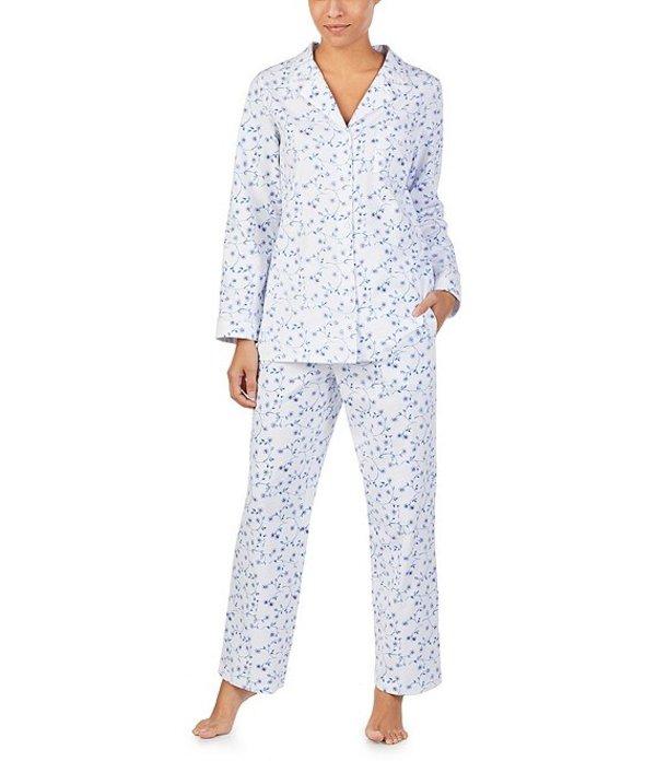 エイレーンウェスト レディース ナイトウェア アンダーウェア Floral Print Jersey Knit Pajama Set White