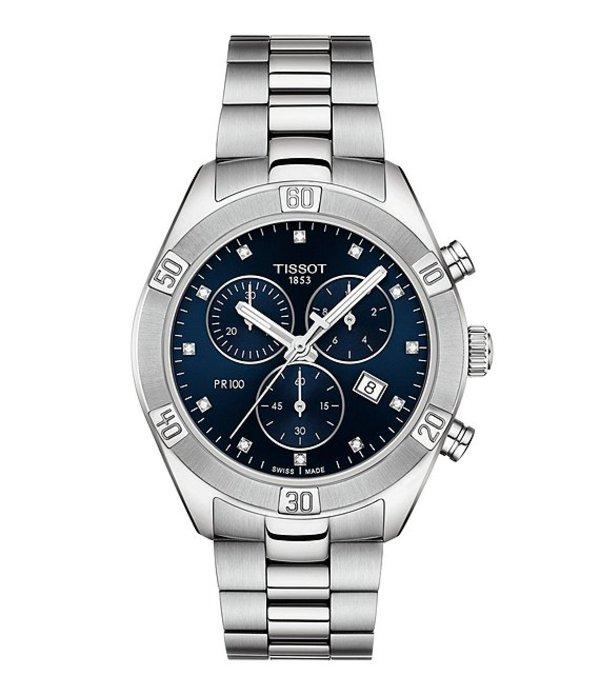 ティソット メンズ 腕時計 アクセサリー PR 100 Sport Chic Chronograph Watch Silver