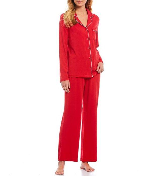 カベルネ レディース ナイトウェア アンダーウェア Solid Woven Pajama Set Tango Red