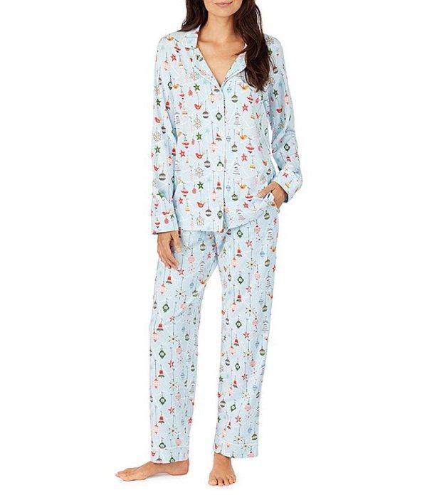 ベッドヘッド レディース ナイトウェア アンダーウェア Pajamas Deck the Halls Printed Knit Classic Pajama Set Blue/Multi