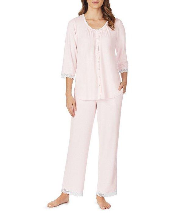エイレーンウェスト レディース ナイトウェア アンダーウェア Solid Sweater Cozy Knit Pajama Set Rose