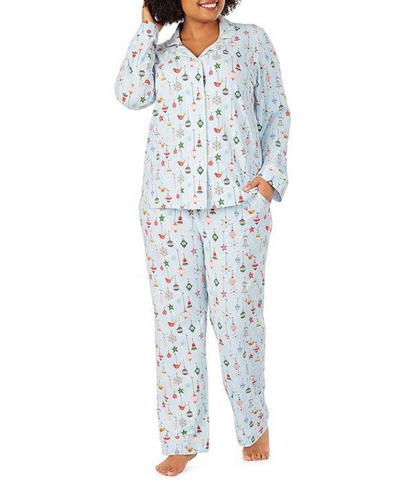 ベッドヘッド レディース ナイトウェア アンダーウェア Pajamas Plus Deck the Halls Printed Classic Knit Pajama Set Blue/Multi