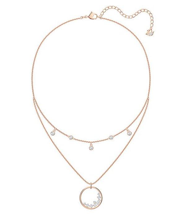 スワロフスキー レディース ネックレス・チョーカー アクセサリー North Layered Rose-Gold Tone Necklace Rose Gold