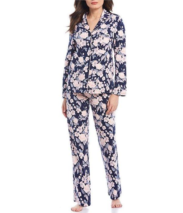 カベルネ レディース ナイトウェア アンダーウェア Floral-Printed Woven Pajama Set Eclipse