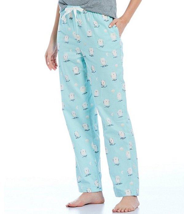 スリープ センス レディース カジュアルパンツ ボトムス Portuguese Flannel Owl-Printed Sleep Pants Icy Morning