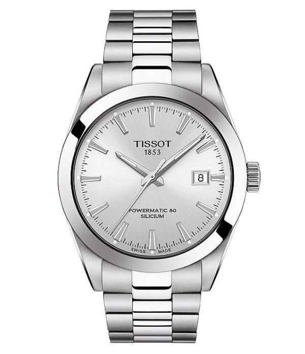 ティソット メンズ 腕時計 アクセサリー Gentleman Powermatic Stainless Steel Automatic Bracelet Watch Silver