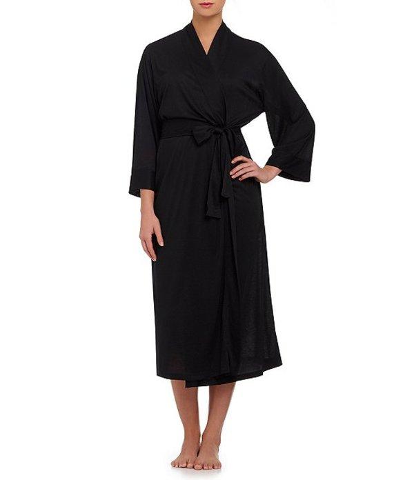 ナトリ レディース ナイトウェア アンダーウェア Congo Long Wrap Robe Black