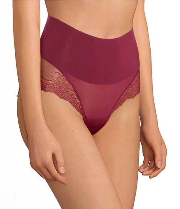 スパンク レディース ブリーフパンツ アンダーウェア Undie-tectable Lace Hi-Hipster Panty Bordeaux