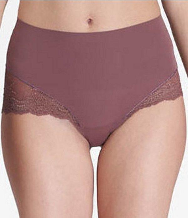 スパンク レディース ブリーフパンツ アンダーウェア Undie-tectable Lace Hi-Hipster Panty Cocoa Crossdye