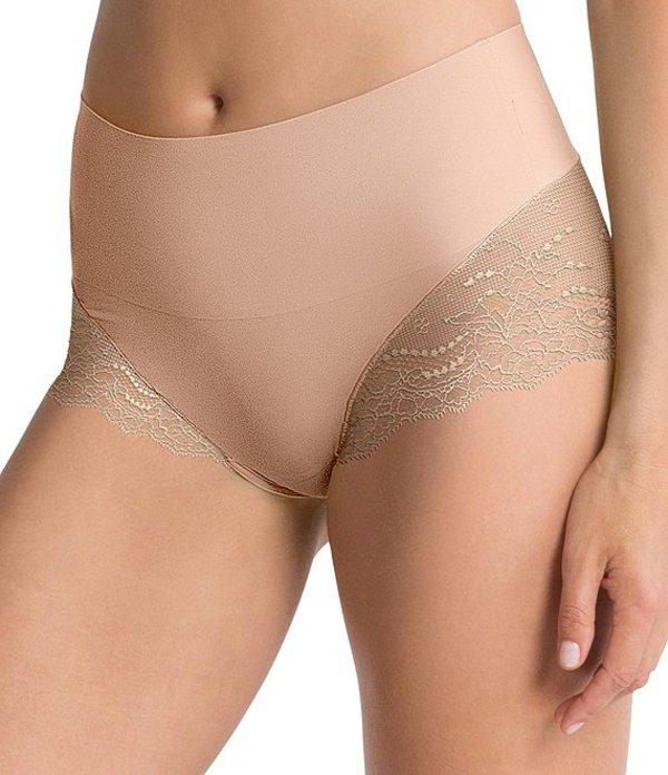 スパンク レディース ブリーフパンツ アンダーウェア Undie-tectable Lace Hi-Hipster Panty Soft Nude