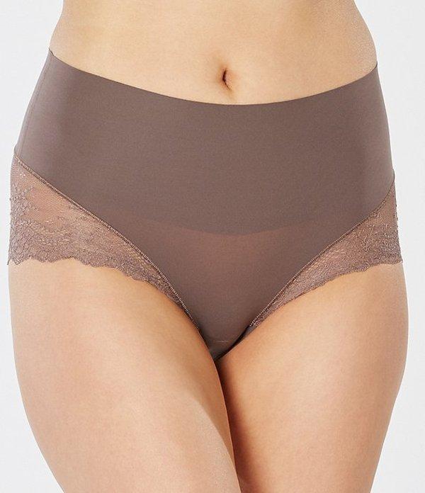 スパンク レディース ブリーフパンツ アンダーウェア Undie-tectable Lace Hi-Hipster Panty Umber Ash