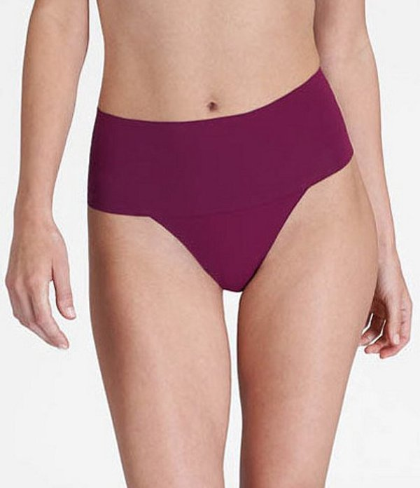 スパンク レディース ブリーフパンツ アンダーウェア Undie-Tectable Thong Panty Bordeaux
