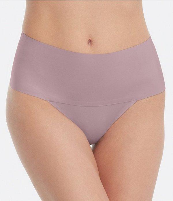 スパンク レディース ブリーフパンツ アンダーウェア Undie-Tectable Thong Panty Lavender