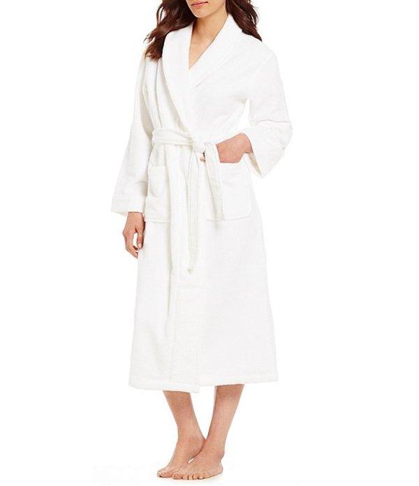 スリープ センス レディース ナイトウェア アンダーウェア Spa Essentials by Sleep Sense Long Wrap Robe Whiteness