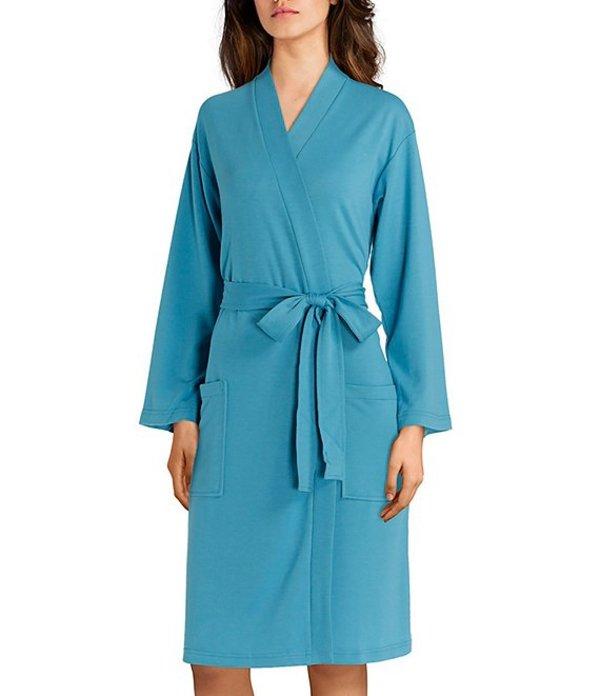 ナトリ レディース ナイトウェア アンダーウェア Nvious Baby French Terry Short Wrap Robe Blue Moon